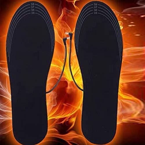 Funxim Fußwärmer, Wärmesohle,Sohlenwärmer,Schuhheizung, Beheizbare Thermosohle, Beheizbare Einlegesohlen Thermosohlen (40-44)
