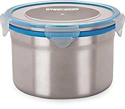 Steel Lock 1403 steel Airtight Storage Containers, 1300ml, Set of 2 Assorted colors