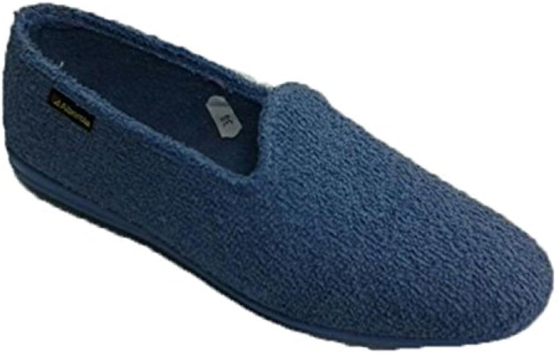 Zapatilla de estar en casa toalla plana Alberola en azul