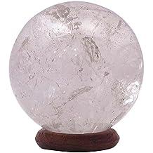 Cuarzo Blanco Piedra Esfera Bola Reiki Equilibrio Espiritual Oficina regalo vector de la decoración