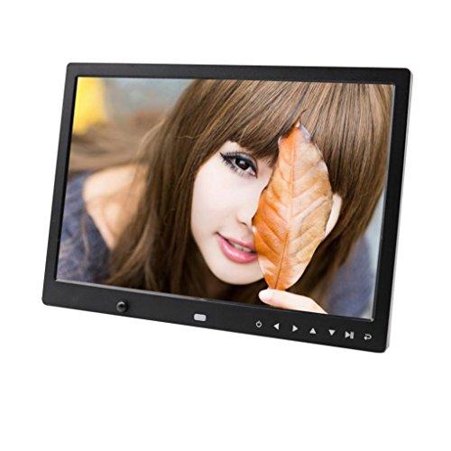 13-Zoll-High-Definition-Körper Wahrnehmung Video-Player multifunktionale Front-Touchscreen-Taste hochauflösende Bildschirm digitaler Bilderrahmen 1280 * 800 automatische Wiedergabe (Schwarz) (High-definition-speicher)