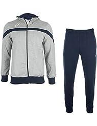 Asics Chándal deportivo para hombres Suit Comfort T850Z5 9450 grau/marineblau (S)