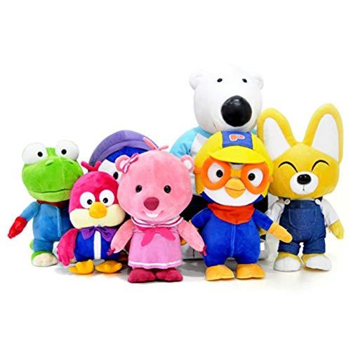 7 Flush (Pororo ein Set von Sieben Flush-Puppen (Plush Doll 7 doll Full Set) Crong Eddy Loopy Petty Harry Poby)