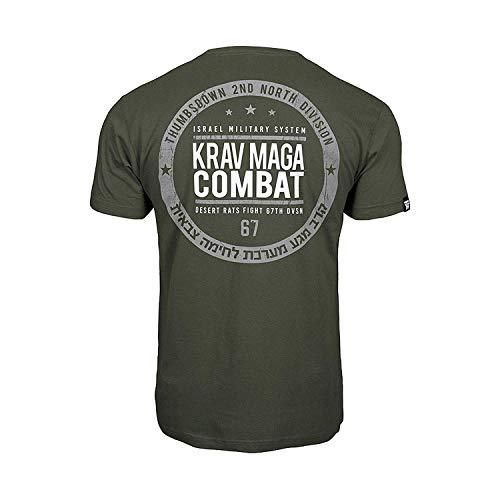 Thumbs Down Krav MAGA Combat T-Shirt. Israel Military System. MMA. Kampfkünste. Gym. Training. Martial Arts (Größe Small) (Maga Krav Herren T-shirt)