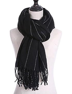 iShine chal fiesta bufandas mujer bufandas mujer con negro gris blanco azul marino
