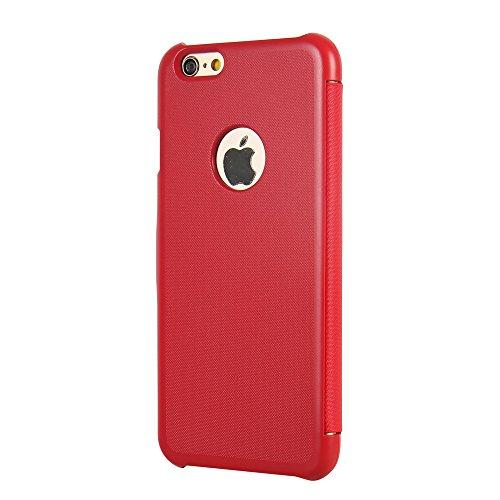 Cover iPhone SE, Cover iPhone 5s, Cover iPhone 5, MTRONX Custodia Case Ultra Folio Flip Stile Pelle Libro con Magnetic Closure Paraurti per Apple iPhone 5s, iPhone 5, iPhone SE - Nero(MG-BK) Rosso
