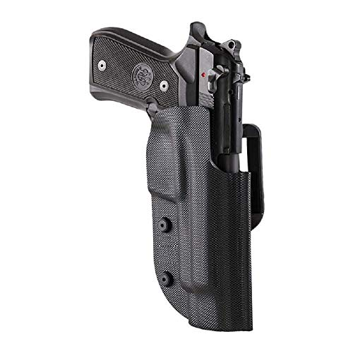 Ghost pistolera Pistola Civilian Negra con Doble Ataque, para Disparos dinámicos IPSC, IDPA, IASC, FIAS, Puertos Ocultos y Civiles (Walther P99, para Zurdos)