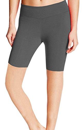 ABUSA - Short de sport - Capri - Femme Gris - Gray (5'')