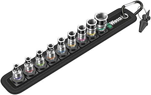"""Wera 05003880001 Belt A 1 Zyklop Steckschlüsseleinsatz-Satz, mit Haltefunktion, 1/4\""""-Antrieb, 10-teilig"""