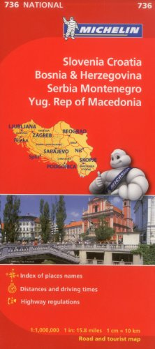 Michelin Slovenia, Croatia, Bosina & Herzegovina, Serbia, Montenegro, Yugoslavic Republic of Macedonia (Michelin Maps) por Michelin