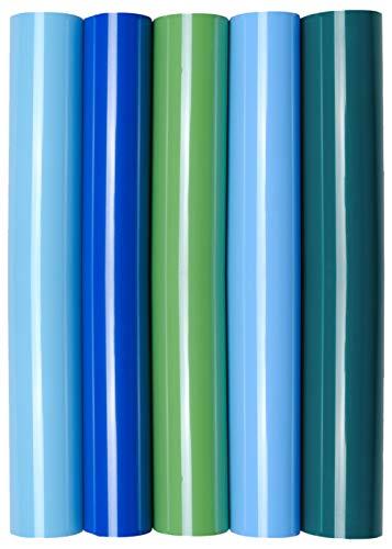 5 x A4 Transferfolie/Textilfolie zum Aufbügeln auf Textilien - perfekt zum Plottern, P.S. Film:5er Set Boys Love -
