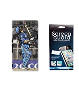 KolorEdge IPL Back case + Screen Protector for Sony Xperia Z - Multicolor