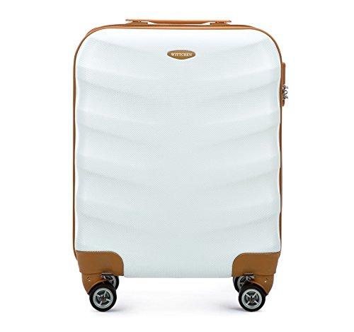 WITTCHEN Zwillingsrollen Hardcase Trolley Hartschale Koffer Reisekoffer Bordgepäck S-M Weiß