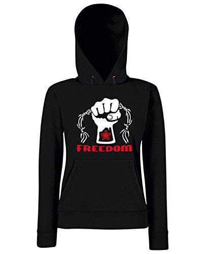 T-Shirtshock - Sweats a capuche Femme TCO0138 stella rossa freedom Noir