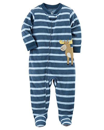 ' 1-Piece Moose Fleece PJs, 4-Kids ()