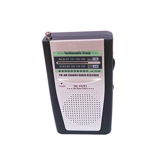 BC-R20 Multifunktions-Radio-Minitasche Tragbarer AM FM Radio-Empfänger Lautsprecher Music Player ()