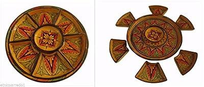 Hand painted Moroccan Couscous Antipasti Tray Plate Terracotta Pottery Tagine Moroccan Diameter 35 from Artigianato Marocco