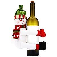 LIUYUNE,Muñeco de nieve de Santa Claus Rack decorado con el tapón de vino de