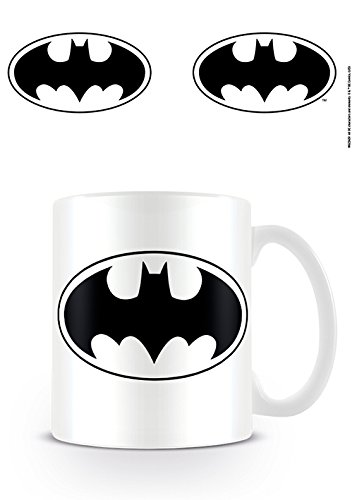Pyramid international dc originals-tazza in ceramica con logo batman, multicolore, unica