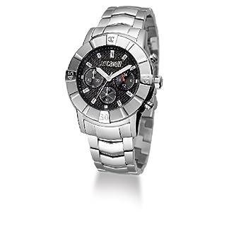 Just Cavalli Crystal Gent Just Time R7273661025 – Reloj Unisex de Cuarzo, Correa de Acero Inoxidable Color Plata