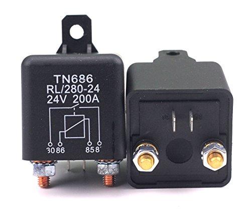 Preisvergleich Produktbild RL/280-24 Batterie Trennrelais Relais 24V/200A Spitzenlast Für Pkw Lkw Kfz Auto Camping Wohn