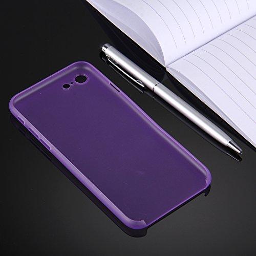 Original TheSmartGuard iPhone 8 & 7 Hülle Case Schutzhülle im Carbon Fiber Look / Kohlefaser Optik (4,7 Zoll) - Ultra-Slim / Ultra-dünn - NEU mit integriertem Schutz für die Kamera-Linse - Farbe schwa Lila