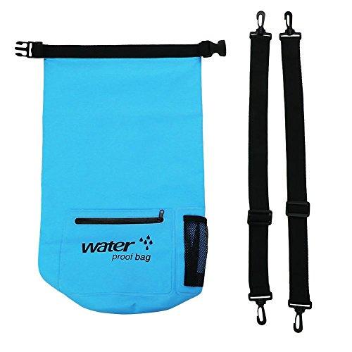 Jacksking Schwimmende Tasche, 10-l-Multifunktions-Rafting-Schwimmsack im Freien(Blau)