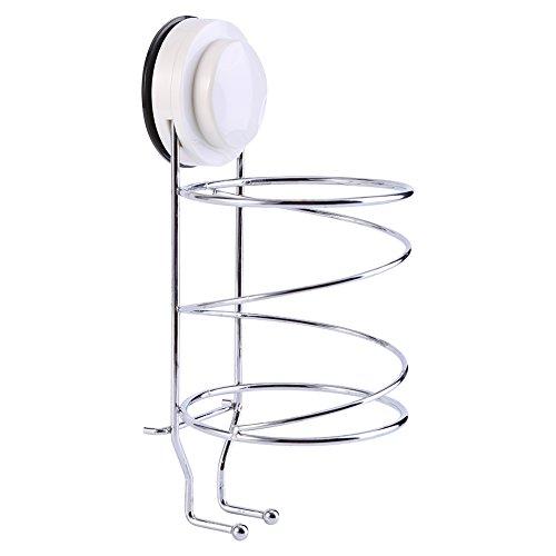 Foto de Wall Suction secador de pelo sostenedor organizador Stand Rack de almacenamiento con ganchos de nuevo para el baño de casa de viaje