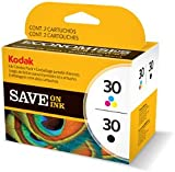 Kodak 30B/ 30CL Ink Cartridge Combo Pack - Black & Colour (335/ 390 Pages)