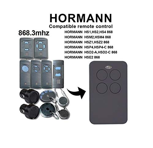 Kompatibel 868 Mhz Hormann HSM2   HSM4   HS1   HS2   HS4   HSE2   HSZ1   HSZ2   HSP4   HSP4 868-C   HSD2-A   HSD2-C Garagentor Handsender Ersatz - Sender Universal Universal-sender