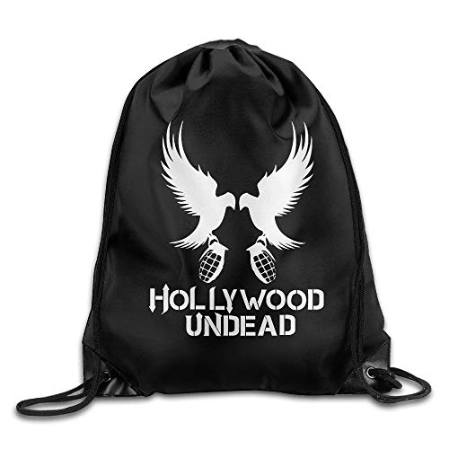 LULABE Gym Hollywood Undead Everywhere I Go Cool Drawstring Backpack Sports Bag