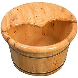 WALJX Bain de Pieds Il Peut être utilisé comme Un Cadeau à Un Dispositif pédiluve Baril de Bain en Bois à Pied Lisse et délicat pédicure Baril Parents Spa Bol pédicure et Les aînés