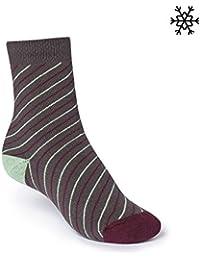 ThokkThokk Thin Striped High-Top Plüsch Socken graphite