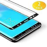 BANNIO Protector de Pantalla Samsung Galaxy S8,[2 Unidades] 3D Cobertura Completa Cristal Templado para Samsung Galaxy S8 con Kit de Instalación,9H Dureza,Sin Burbujas