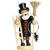 Sikora Räuchermännchen aus Holz - Serie A - 3 Größen S bis XL - Verschiedene Motive, Farbe/Modell:A08 schwarz - Schornsteinfeger, Größe:Höhe ca. 19.5 cm