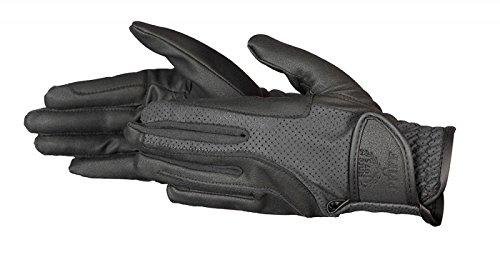 PFIFF Damen elastischer Reithandschuhe Handschuhe schwarz, S