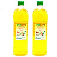 FITLITE Pack of 2 Pure Groundnut Wood Chekku Oil 0.5 LTR