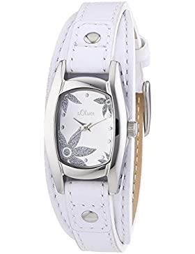 s.Oliver Damen-Armbanduhr Analog Quarz Leder SO-2860-LQ