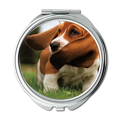 Yanteng Spiegel, Kleiner Spiegel, englische Bulldogge Basset Hound, Taschenspiegel, 1 X 2X...