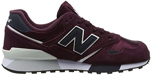 New Balance U446bn, Sneakers basses mixte adulte Rouge (Burgundy)