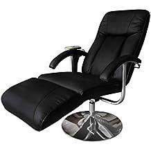 vidaXL–Sillón de masaje y de relajación eléctrico negro