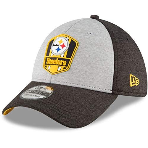 New Era Pittsburgh Steelers on Field Sideline 18 Road 3930 39thirty Cap Curved Visor S M NFL