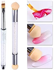Born Pretty Nail Art Gradient Painting Drawing Brush with Double-ended Gradient Shading Dotting Sponge Head Builder