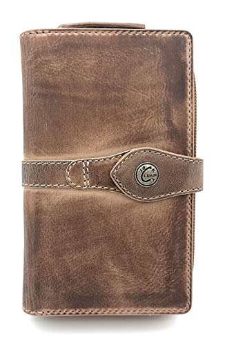 Price comparison product image Jockey Club La-Correa Women's Purse Full Cowhide Leather with Multiple Card Slots Shabby Chic Used Look Vintage Style with RFID Protection