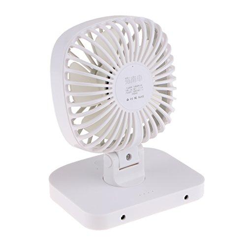 Preisvergleich Produktbild Homyl USB Ventilator Tischventilator Schreibtischventilator, 3 stufige Geschwindigkeitsregelung, 160 Grad vertikale Rotation, 360 Grad links und rechts Rotation - Weiß