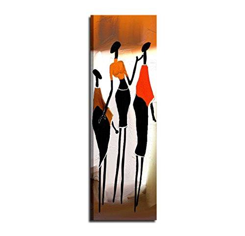 I Colori del Caribe Quadri Verticali Dipinti A Mano su Tela Etnici Moderni  per Soggiorno Salone Ufficio ARREDO Quadro Verticale Dipinto su Tela Alta  ...
