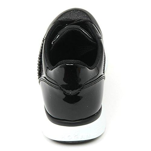 B9360 sneaker donna HOGAN CLUB H254 TRADITIONAL scarpa H ricamo nero shoe woman Nero