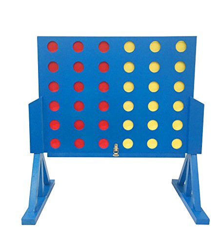 Funmate Deluxe Giant Wooden 4 in A Row Game?Connect 4 Connect Four Line Up 4 In A Row Four In A Line Board Game