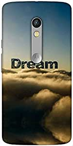 Snoogg Dream Clouds Designer Protective Back Case Cover For Motorola Moto X Play