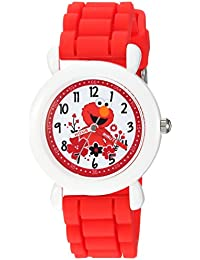 eWatchFactory Boy's 'Sesame Street' Quartz Plastic and Silicone Casual Watch, Color:Red (Model: WSS000039)